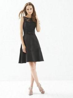 A-line Scoop Bowknot Sleeveless Knee-length Satin Bridesmaid Dress