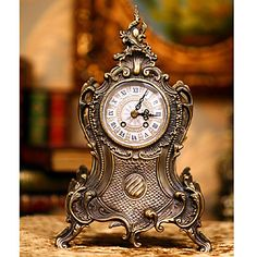 High-Class Antique Inspired Table Clock – USD $ 59.49