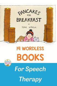Preschool Speech Therapy, Preschool Books, Speech Pathology, Speech Language Pathology, Speech And Language, Wordless Picture Books, Wordless Book, Feelings Words, Exploration