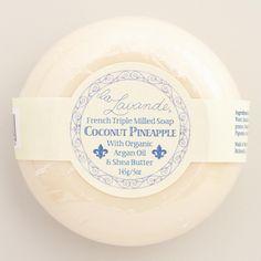 http://www.worldmarket.com/product/la-lavande-coconut-pineapple-bar-soap-set-of-2.do?