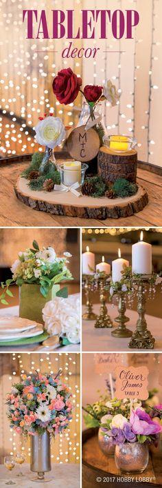 DIY centerpieces to inspire your wedding reception decor!