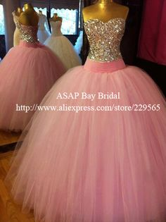 Free Shipping Long Fluffy Heavy Crystal Beaded Dropped Waist Ball Gown Prom Dresses-in Prom Dresses from Apparel Accessories on Aliexpress.com