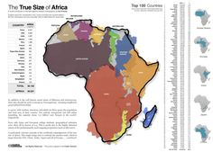 Tamaño real de África. Autor: Kai Krause
