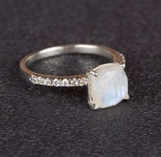 Stacking Rings – Moonstone Ring, 925 Silver Ring, Promise Ring – a unique product by Midas-Jewelry on DaWanda