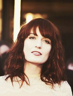 Florence Welch - I had a random customer tell me I look like Florence a few weeks back. I just now looked her up to see, and I'm totally flattered!