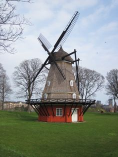 The amazing old windmill at the Kastellet fort in Copenhagen.  A must see if visiting.