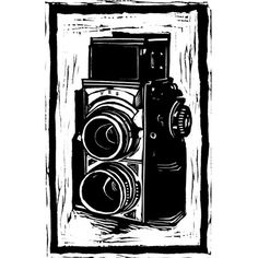 camera by kleinfamily   relief printing of something (object, symbol) that means a lot to you