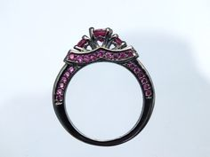 Black Gold Maleficent Movie Disney Inspired Ring Ruby by AOSDESIGN, $20.00