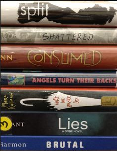 Book Spine poetry for National Poetry Month ... with The True Adventures of a High School Librarian.