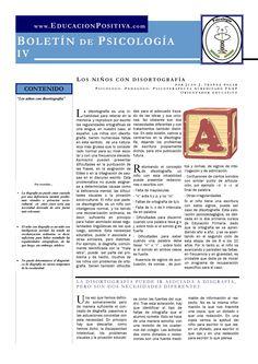 Psychology newsletter: Child with dysorthography (spanish) by Juan J. Ibáñez Solar  Boletín de Psicología: el niño con disortografía. Por Juan J. Ibáñez Solar