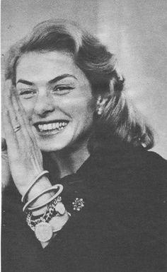 Ingrid Bergman, she looks like she's having a great time, great smile