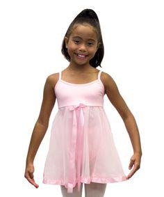 Pink Rosette Ribbon Skirted Leotard - Toddler