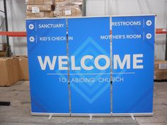New kids on the block, Abiding Church just launched in Kennesaw, GA. The WELCOME is a priority.  Nice gob!