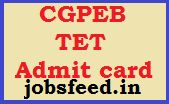 CG TET Exam Admit card 2014 Download CGPEB TET Hall Ticket
