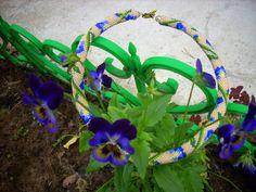 Free pattern for beaded crochet rope Iris