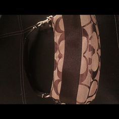 Coach purse Small coach purse like new brown and gold with dark brown strap and gold metal details Coach Bags
