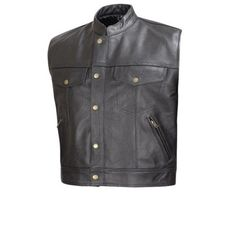 This is heavy duty men's premium cowhide leather motorcycle Vest. Rugged top grained leather build tough to last long. This vest is backed by our Lowest price, Highest quality guarantee.