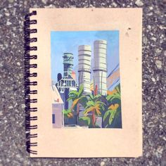 Went painting this morning with a few buddies at the Pasadena Water and Power plant. I haven't been out to paint in a while, this was super fun though! :D