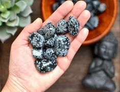 Snowflake obsidian Tumbled stone. Each one is hand selected, one of a kind, and smooth. Perfect to hold in hand or carry in pocket or bag.It is believed that each stone carries a metaphysical property.You will receive one smooth tumbled stone. Comes with a healing properties card. Apache Tears, Snowflake Obsidian, Tumbled Stones, Healing Stones, Snowflakes, Sweet Tooth, Handmade Items, Fruit, Etsy