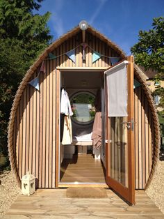 Small but stylish, the perfect holiday pod experience.