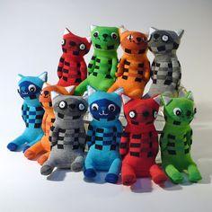 group of sock animals by OddSoxUK, via Flickr