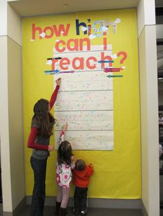 How High Can You Reach? | easy kids STEM display | Allen County Public Library