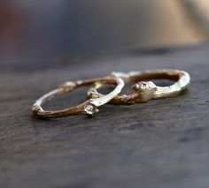 Twig Wedding Bands, Ring for Him and Her, Branch Ring, Twig Diamond Ring in Sterling Silver or Solid Gold,Yellow Gold, White Gold, Rose Gold by ClaudetteTreasures on Etsy https://www.etsy.com/listing/287864289/twig-wedding-bands-ring-for-him-and-her