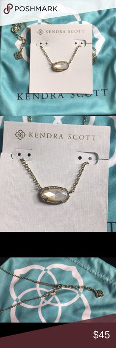 Kendra scott Elisa Kendra scott ivory pearl Elisa. Super cute necklace that goes with everything. Has slight tarnishing on the underneath side on the stone but it's not noticeable when wearing. Cheaper through (p)ay(p)al Kendra Scott Jewelry Necklaces