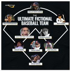 The Ultimate Fictional Baseball Team Baseball Movies, Baseball Bats, Willie Mays, Hooch, Let It Be, Lineup, Blog, Baseball Batter, Blogging