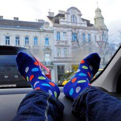Funky Dotted Socks #vitsocks #funkysocks #coloursocks #dots #polkadots #patternsocks