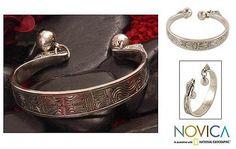 Sterling silver cuff bracelet - Sterling Balance   NOVICA