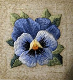 Beautiful  embroidered Pansy @ Afshan Shahid
