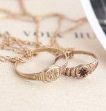 WJM and Gypsy-set Garnet Victorian Baby Ring Necklaces | Erica Weiner