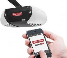 Smartphone Garage Door Opener  With Craftsman Assure Link and the app, it doesn't matter where you are, at work or right in front of your...
