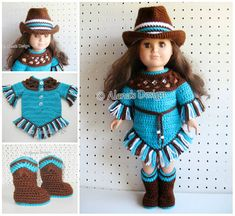 Crochet Pattern Set 18 in Doll Clothes Crochet Patterns American Doll Western Doll Outfit Boots Cowgirl Hat Dress My Life Gift for Girl INSTANT DOWNLOAD This pattern is available for an instant download. Once the payment is confirmed, you will receive an email with a download link (it