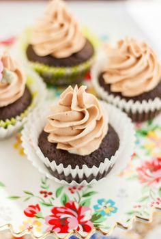 Lindor Milk Chocolate Cupcakes with Chocolate Buttercream