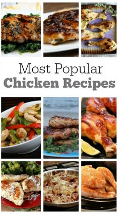 Most Popular Chicken Recipes from RecipeGirl.com:  Balsamic Glazed, Parmesan Crusted, Chicken Parmesan and more!  These are reader favorites, make-again dinner ideas!