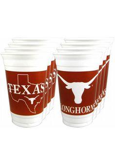 Texas (UT) Longhorns 16oz Party Cups http://www.rallyhouse.com/shop/texas-longhorns-texas-longhorns-16oz-cups-1569026?utm_source=pinterest&utm_medium=social&utm_campaign=Pinterest-TexasLonghorns $4.95