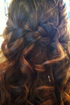 Half Braided hair style for long hair- wonderful for a wedding. | Salon Thesis
