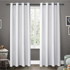 Exclusive Home Curtains Sateen Blackout Grommet-Top Single Curtain Panel - JCPenney Home Curtains, Kids Curtains, Room Darkening Curtains, Velvet Curtains, Grommet Curtains, Blackout Curtains, Panel Curtains, Curtain Panels, Patterned Curtains
