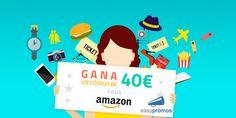 Gana 40€ a gastar en Amazon. Participa en #sorteo rellenando esta breve encuesta sobre premios en un #concurso online
