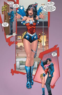 Lois Lane role playing as Wonder Woman for Clark Kent (Superman)