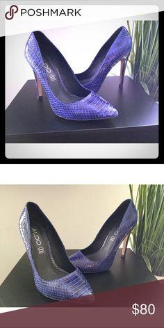 63736e5eb4f0 Aldo Leather Stilettos Amazing snakeskin print leather stilettos. Worn  once. Aldo Shoes Heels Stilettos