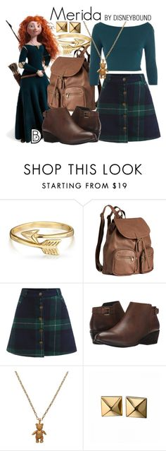 """""""Merida"""" by leslieakay ❤ liked on Polyvore featuring Bling Jewelry, Merida, H&M, ASOS, Blondo, Mirabelle, Waterford, disney and disneybound"""