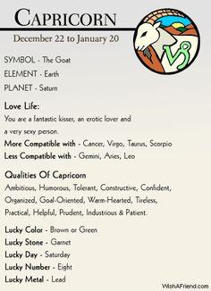 zodiac capricorn facts - Google Search