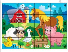 Preschool and Homeschool Numbers Preschool, Kids Learning Activities, Baby Learning, Infant Activities, Preschool Activities, Teaching Kids, Free Worksheets For Kids, Animal Worksheets, Robots For Kids