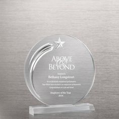 Circle Star Acrylic Trophy