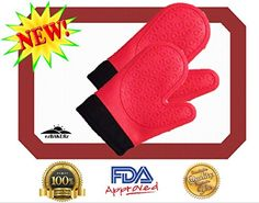 Silicone Oven Mitts with Bonus Nonstick Baking Mat Half Sheet Size 16 5 8 x 11! Premium Non-stick Heat Resistant Gloves or Potholders and Pastry Liner Set! No Hassle Guarantee! Rave Reviews! ezBAKERz http://www.amazon.com/dp/B00Q3VQ2K2/ref=cm_sw_r_pi_dp_401Oub1GXXNDW