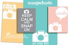 Free Camera Filler/Journaling Cards for Project Life