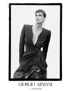 Fabienne Terwinghe for Giorgio Armani, photographed by Peter Lindbergh, Spring/Summer 1993